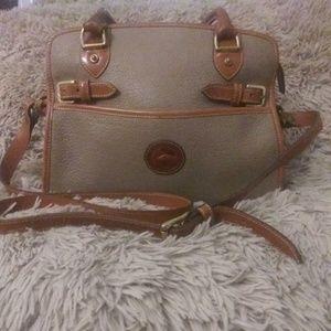 Dooney & Leather Pebble leather bag